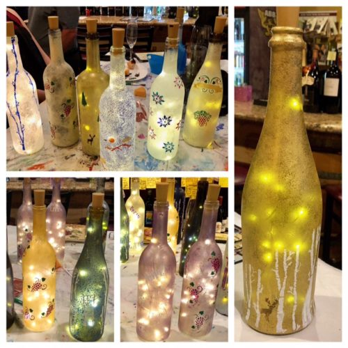 LightedWineBottles